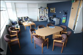 Picture: John Borren: The city councillors' private lounge, where Cr Hayden Evans admits having planted a tape recorder.