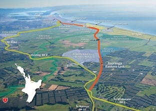 NEW DIRECTION: The new stretch of highway, known as the Tauranga Eastern Link, will be New Zealand's largest single roading contract. APN