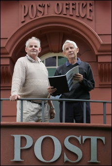 PICTURE: JOHN BORRENDave Shand (left) and Rob Carlyon, co-authors of Tauranga Mails.