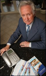 Picture: Joel Ford: John Green, 79, was the victim of a telephone scam run by Australian company Affordable Holidays.