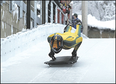 Skeleton racing - not for the faint hearted