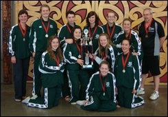 Otumoetai College's champion North Island junior girls' volleyball team.