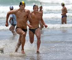 PICTURE: JAMIE TROUGHTON: Mount Maunganui's Andrew Newton (left) and Papamoa's Logan Walsh jostle for the lead.