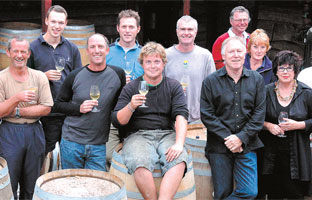 The team at Nelson's Neudorf Vineyard.