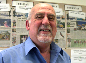 Wairarapa Times-Age deputy editor and chief reporter Don Farmer. Photo Lynda Feringa