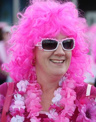 IN THE PINK: Workers throughout the Bay could resemble this on Friday, as several businesses sign up for Pink for a Day.