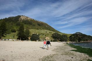 The stunning weather this Labour Weekend has been great for Mount Maunganui. Photo: Sam Ackland.