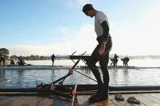 Mahe Drysdale knows exactly where his opposition will come from at the world rowing championships on Lake Karapiro. Photo: Phil Walter/Getty Images.