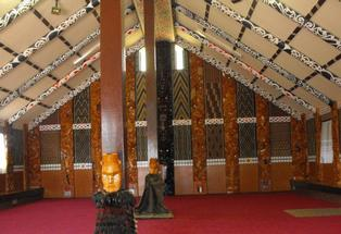 The back wall of the wharenui at Te Puna's Tutereinga marae. Photo: Supplied.
