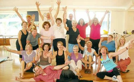 Laugh and the world laughs with you . . . try laughter yoga.