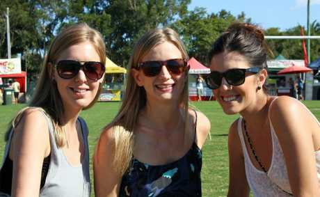 Jessica Watson, Solia Bjorklund and Kirby Evangelista at the 2010 Golden Days Festival.