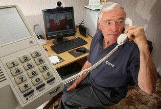 John O'Neill had a close call with phone scammers. Photo: John Borren.