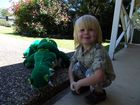 This is a picture of our son Declan, 3, who looks quite simular to Bob Irwin Jnr playing with his toy croc!