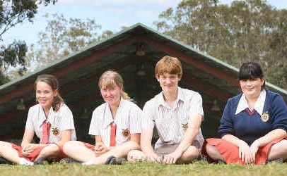 West Moreton Anglican College students Hannah Roberts, Rebecca Moss, Daniel Rogers and Emma Eustace are off to Tanzania to help out with the local communities.