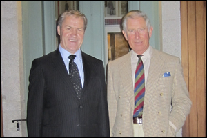 Agriculture Minister David Carter meets with His Royal Highness the Prince of Wales on the wool industry.