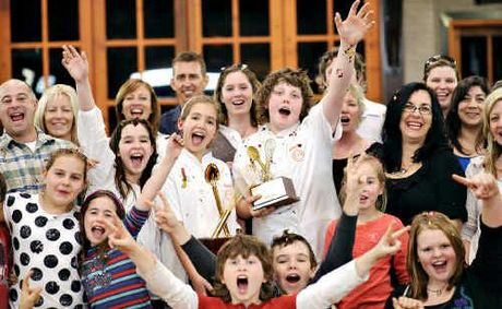 Junior MasterChef contestants and their families celebrate the finale of the popular program aired on Monday night.