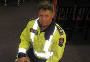 Pukehina Volunteer Fire Brigade Chief Fire Officer Errol Watts.