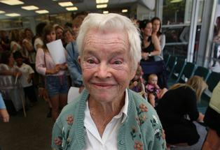 Mollie Haines, 83, at the extras auditions for The Hobbit in Tauranga.
