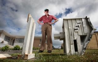 90-year-old Bert Bunn was upset to find someone had demolished his letterbox.