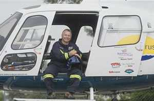 Welcome Back: Barry Vincent is back flying the Rotorua-based Bay Trust rescue helicopter.