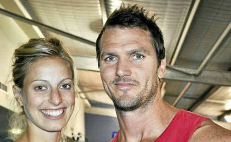Australian netballer and Allora girl Laura Geitz with rugby union player Mark Gilbride announced their engagement yesterday.
