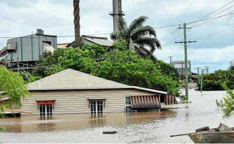 Millaquin Mill is inundated.