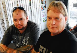 More Than Skin Deep: Veteran Masterton tattooists Harley Davies (left) and Clint Thornton are calling for urgent law changes governing an industry that has soared in popularity.