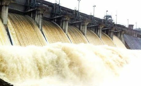 Leslie Dam's floodgates open for the first time in almost 22 years in 2011.
