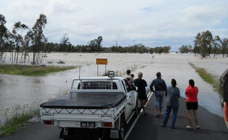 Flooding near Dalby.