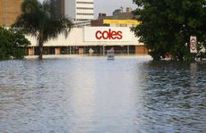 Coles and other stores in the Ipswich CBD were flooded yesterday.