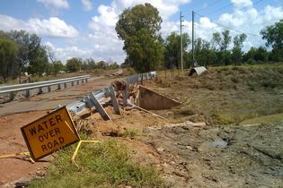 The devastating effects of flooding around the central Queensland town of Emerald, where former Western Bay nurse Barbara Cook is based.