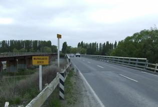 The old Waimakariri Bridge.