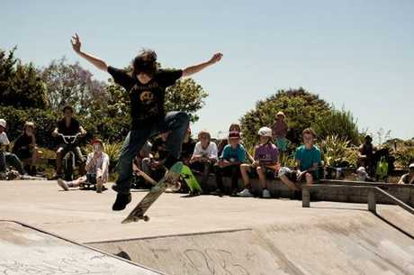 Competitors take their turn at Katikati's Skate Competition.