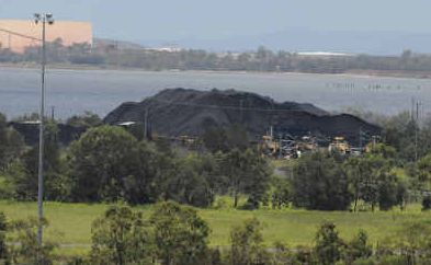 Black coal dust: The replenishing of coal at the Barney Point Coal Terminal has also brought the coal dust back into Gladstone homes.