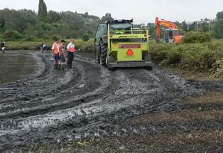 A new way to manage mulch left after mangroves are mechanically removed was trialled at Waikareao estuary on Friday.