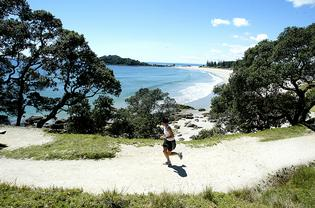 The base track of Mauao at Mount Maunganui is a popular walking and running track.