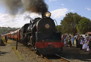 ON THE LINE: A vintage train will be used to highlight the threatened Napier-Gisborne line's potential on Art Deco Weekend.