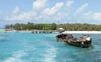 Heron Island holiday makers were left without fresh drinking water yesterday. Picture: Contributed.