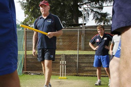 Former Test cricketer Craig McDermott casts his eye over Toowoomba fast-bowling talent at Downlands