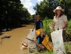 Nambour's Petrie Creek is more known for rubbish being dumped than boat arrivals.