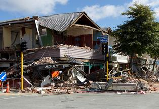 Colombo Street in Christchurch after the 6.3 magnitude earthquake.