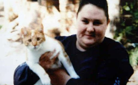 Amanda Quirk with her cat Megsy.