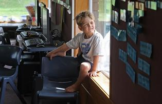 Harry Addison, 6, is enjoying spending time at Bethlehem College primary school.