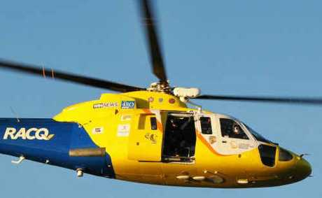 A CARPRICORN Helicopter Rescue Service helicopter.