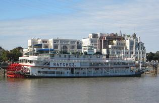 Take a riverboat cruise on the Mississippi.