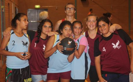 Midnight Basketball players at the Coffs Harbour Education Campus.