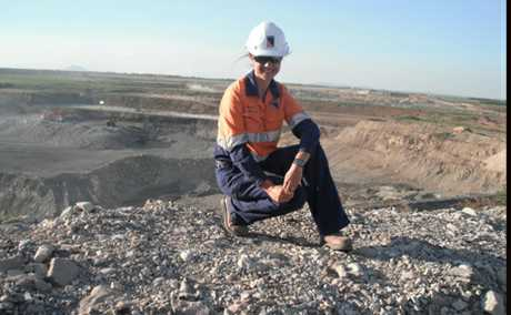 DOIN' IT FOR THE GIRLS: Biloela engineer Heather Parry has won the 2011 Queensland Resources Council Resources Award for Women.