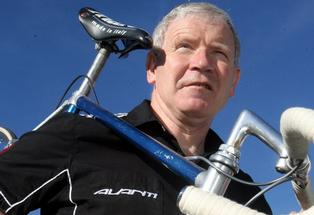 Record Holder: Brian Lambert from Lambert Cycles, Masterton. Eugene Collins is set to ride the same Auckland-to-Wellington route that Masterton cycling legend Brian Lambert completed in 1984