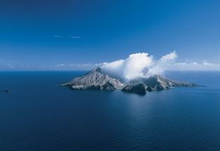 The region's active volcano, White Island.