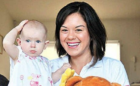 Yuki Worsch-Smith with nine-month-old Isabel Pettet.